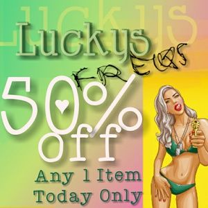 BUYERS 50% OFF ANY 1 ITEM!